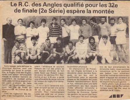 Rugby Les Angles - Création du club